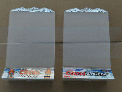 COORS LIGHT BEER Table Tents BRAND NEW Set of TWO w/MOUNTAINS