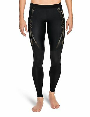 SKINS Women's A400 Compression Long Tights Black/Gold Large New