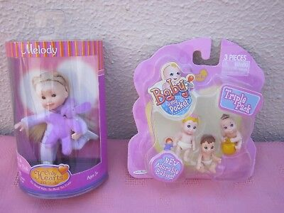 Brand New,mib Only Hearts Melody Lil Kids Doll And New Mib Baby In My Pocket