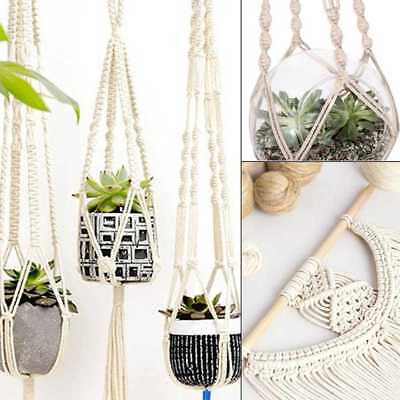 HomeGarden Holder Gardenpot Lifting Rope Macrame Plant Hanger Flowerpot Pop