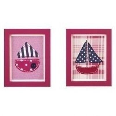 New Pink Sail Boat Framed Art by Cocalo Baby