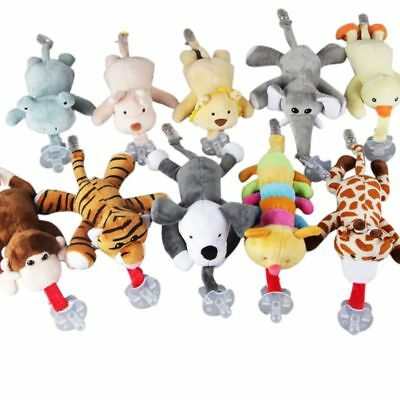 Newborn Kid Baby Pacifier Hanging Holder Removable Plush Animal Doll Toy Soother