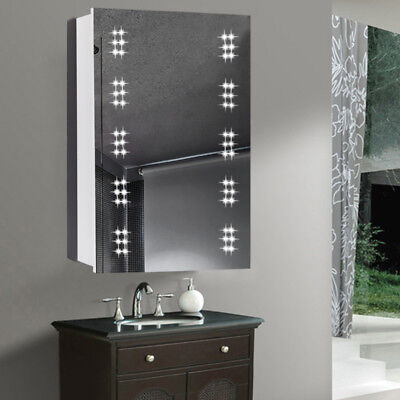bathroom cabinet mirror cupboard sensor demister shaver 60 led