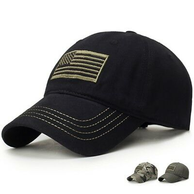 US American Tonal Flag Patch Embroidery Curved Cap Baseball Hats Hat Army  Hat 03977312678b