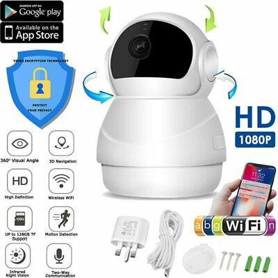 1080P Wireless IP Camera Smart WiFi CAM Monitor Security APP IR Night Vision NEW
