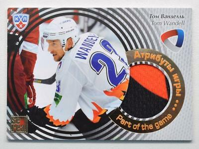 2012-13 KHL Part of the Game #POG-024 Tom Wandell SAMPLE Jersey Card