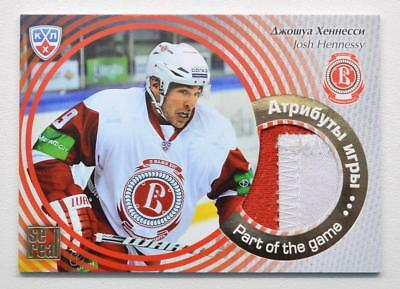 2012-13 KHL Part of the Game #POG-003 Josh Hennessy SAMPLE Jersey Card
