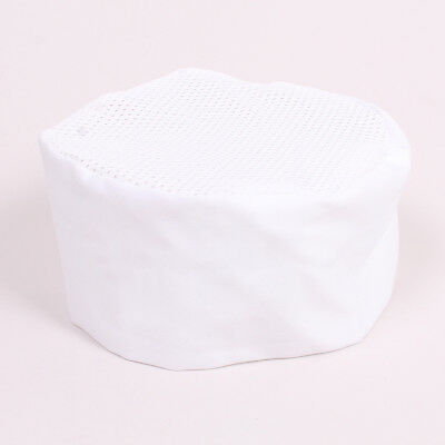 White Mesh Skull Chef Cap