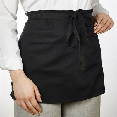 Black Short Waiters Apron With Waist Ties