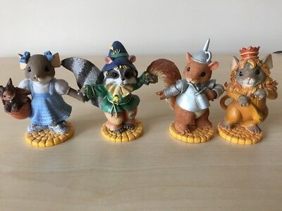 Charming Tails Wizard of Oz Set of 4 Mice Hamilton Collection 2008