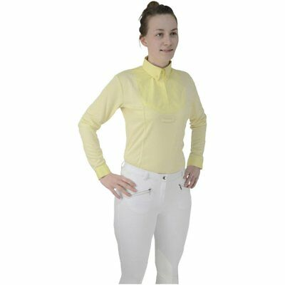 Hy Fashion Dedham Long Sleeved Tie Womens Shirt Competition - Yellow All Sizes