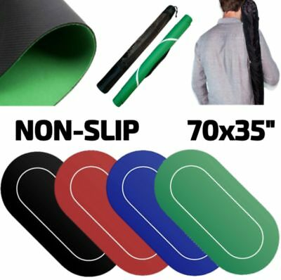 """Brybelly Sure Stick Rubber Portable Fold Out Poker Table Felt Top 70x35"""""""