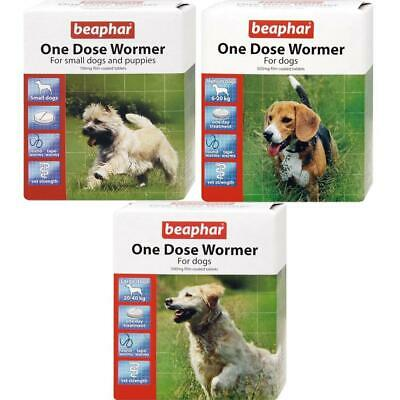 Beaphar One Dose Wormer Treatment Tablets for Puppies Small, Medium & Large Dogs