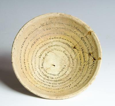 Holy Land incantation bowl with Aramaic inscription circa 7th century AD.