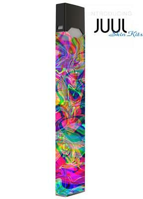 Skin Decal Wrap for JUUL  Protective Vinyl Cover Sticker Kit Trippy