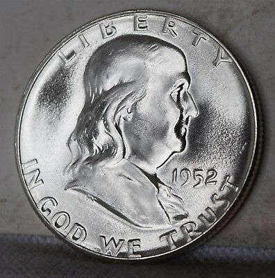"1952 Franklin Half Dollar ""Gem BU"" *Free S/H After 1st Item*"