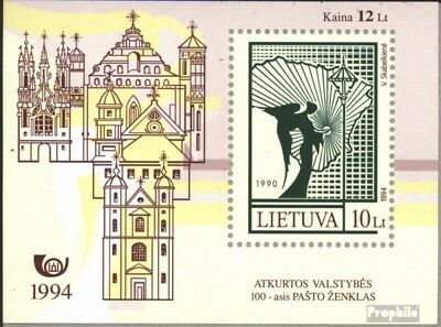 Lithuania block4 (complete issue) unmounted mint / never hinged 1994 Stamp