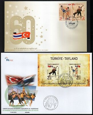 Thailand - Turkey Joint Issue 2018 FDC/ 60th Anniversary of Diplomatic Relations