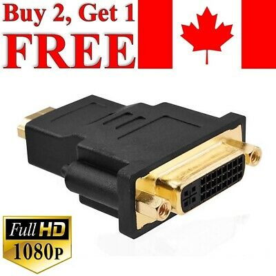HDMI Male to DVI-I 24+5 Female Adapter Converter Gold Plated Connector 1080P