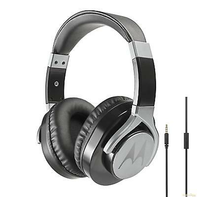 Motorola Pulse Max wired Headphones with Mic- Black