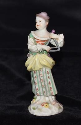 Meissen Figurine -LADY PLAYING TRIANGLE- Model #23 - GALANTE KAPELLE SERIES-MINT