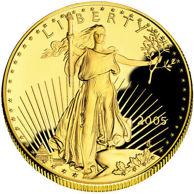$50 1oz Proof Gold American Eagle - Capsule Only (Random Date)