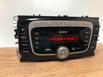 OEM Ford Sony CD MP3 FM  DAB Digital Radio  Player Stereo