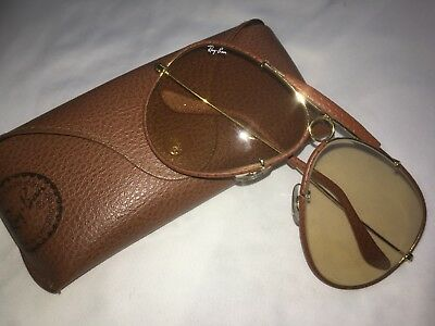 eea567775ab VINTAGE RAY-BAN OSTRICH Leather Shooter 62mm B L Sunglasses 1970 s ...