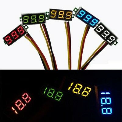 "0.28"" DC 0-500V Voltmeter BLUE led Digital Display Voltage VOLT METER 12V 24V"