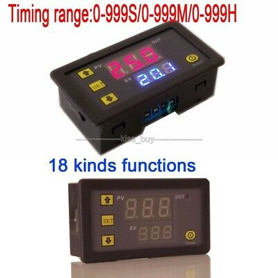 24V Digital display time relay module cycle timing delay Module 0-999 hr/min/sec