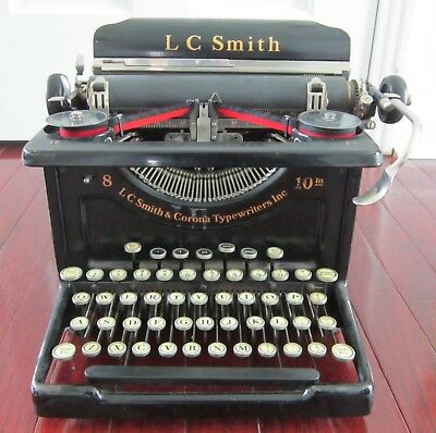Antique Lc Smith Corona 8-10 Typewriter 1931 Excellent Condition