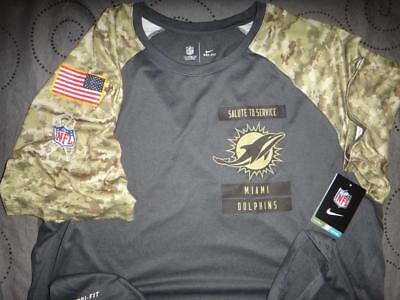 huge discount a8ee2 678cd NIKE MIAMI DOLPHINS Nfl Salute To Service Camo Shirt 2Xl Men Nwt $40.00