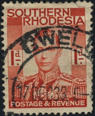 """Southern Rhodesia - 1938 - Sg41 Cancelled """"gwelo"""" Double Cds"""