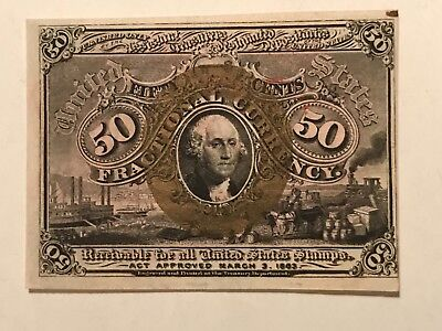 Second issue  50c fractional Red reverse choice uncirculated FR 1317