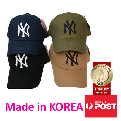 NY New York Yankees Adjustable Snapback Baseball Cap in Black, Khaki, Navy, Tan