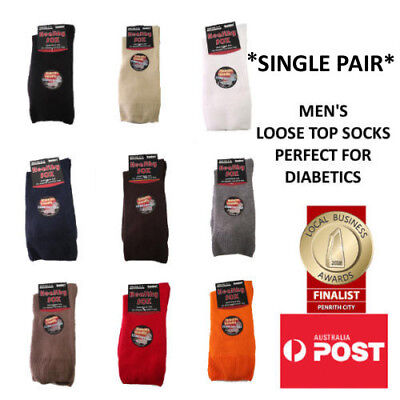 Men's Diabetic Loose Top Medical Circulation Socks Wide Top SEAMLESS SMOOTH TOE