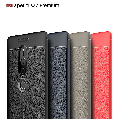 """Ultra Thin PU Leather Soft TPU Shockproof Case For """"Sony Xperia XZ2 Premium"""""""
