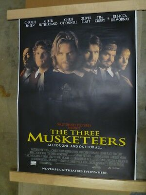 vintage 1993 THE THREE MUSKETEERS BUS SHELTER POSTER 48 X 70 DISNEY