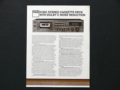 NAD  6150C  CASSETTE  Original Sales Flyer  1981   Not A Copy