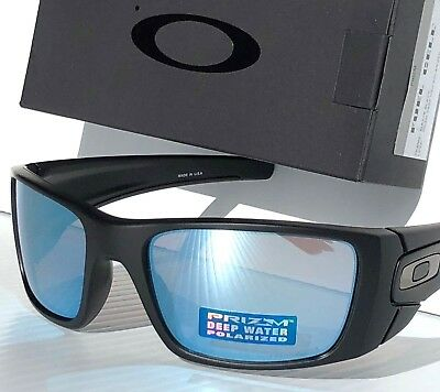de85b1b0e1 NEW  OAKLEY FUEL CELL Black POLARIZED Deep Water Blue PRIZM Sunglass  oo9096-D8