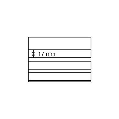 Standard cards PVC, 158x113 mm, 3 clear strips with cover sheet,black card, 100