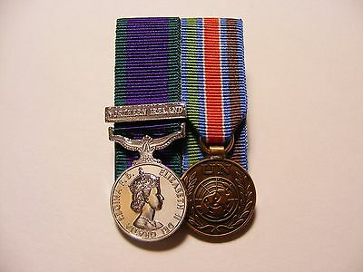 General Service Medal Northern Ireland & UN Bosnia Miniature Medals Mounted GSM