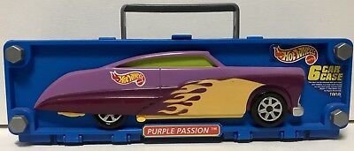 Hot Wheels Mattel Tara 1998 Car Case Purple Passion holds 6 cars New Rare