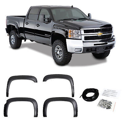 POCKET RIVETED TEXTURED Fender Flares For 07-13 CHEVY SILVERADO Short Bed  69 3
