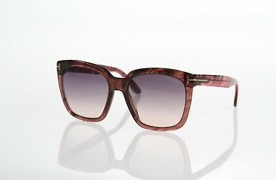 aa3c9493aa7 Tom Ford Amarra Tf502 74B Grey Pink Oversized Square Style Authentic  Sunglasses