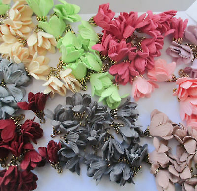 Small Flower Tassels suede 24mm mixed colours
