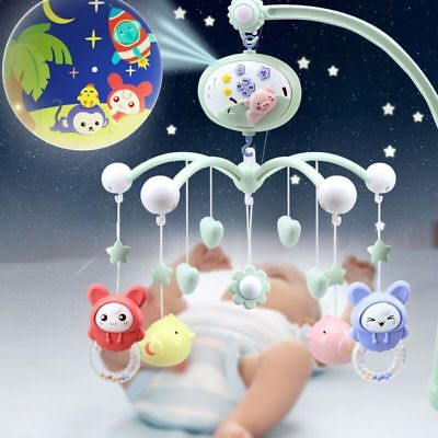 Baby Crib Mobile Bed Bell Holder Arm Bracket Musical Box Lullaby Sounds Cot Toy