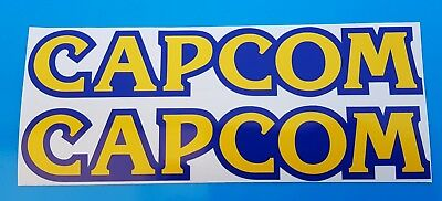 """x 2 Capcom Stickers Decal Graphic Vinyl 8"""" Approx"""