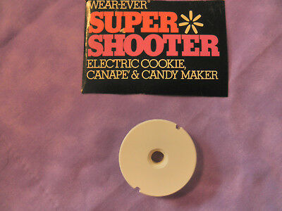 Wear-Ever Super Shooter Cookie 70001 Piston Disc Replacement Part White