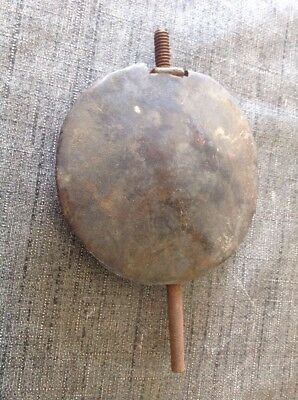 Antique Wall Clock Pendulum Lead Bob Weight 878g 90mm Diameter